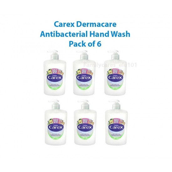 Carex Moisture Hand Wash   Eco Refill System with Pump 6x 250ml UK Stock