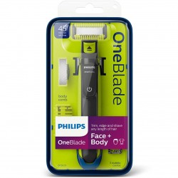 Philips OneBlade QP2620/25 Cordless Wet & Dry Trimmer for Face and Body