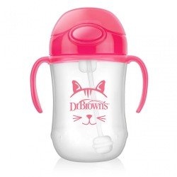 DB 270ML BABY'S FIRST STRAW CUP PINK