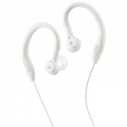 JVC HAEC10W Sports In Ear Headphones with Over Ear Clip - White