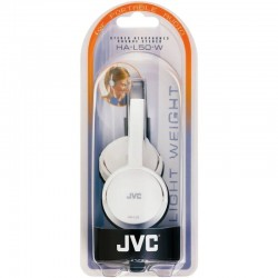 JVC HAL50W Foldable Light Weight Stereo Headphones -White
