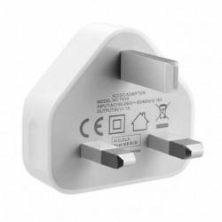 Mains Wall 3 Pin USB Plug Adaptor Charger Power USB Ports for iPhone 5,6,7,8 UK Plug