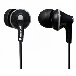 Panasonic RPHJE125/BLACK Ergofit Stereo Earphones - Black
