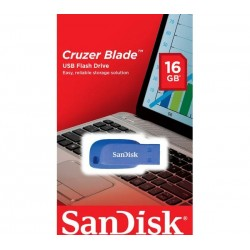 SANDISK Cruzer Blade USB 2.0 Memory Stick - 16 GB, Blue