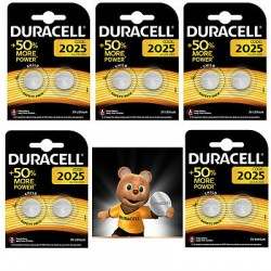 GENUINE 10 X DURACELL CR2025 3V LITHIUM COIN CELL BATTERY 2025,DL2025 BR2025